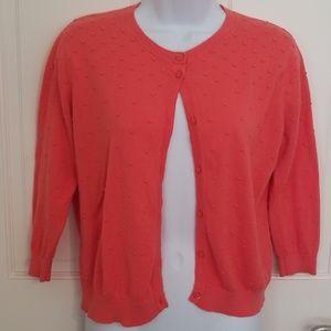 August Silk 3/4 Length Sleeve Cardigan